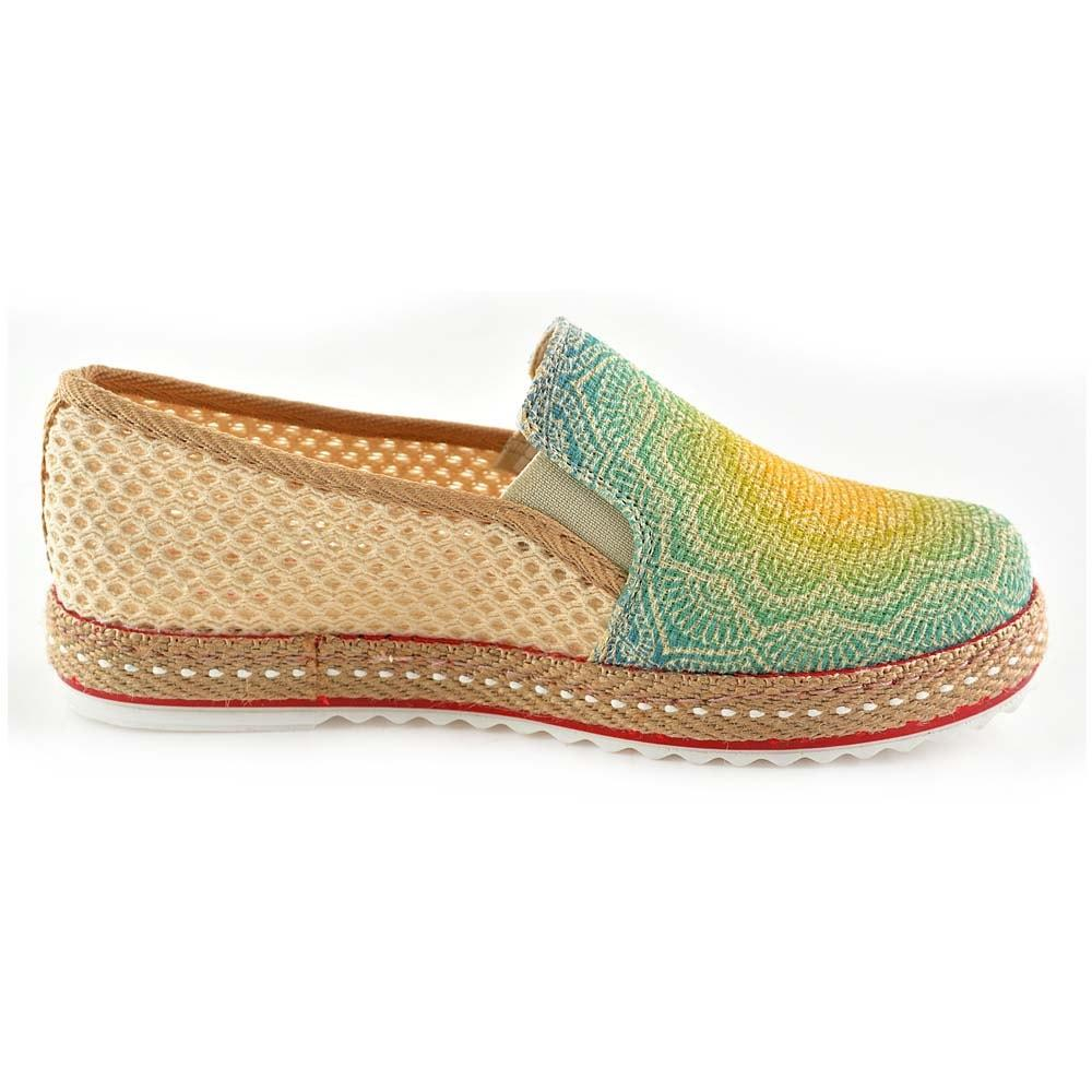 GOBY Shining Sun Slip on Sneakers Shoes DEL114