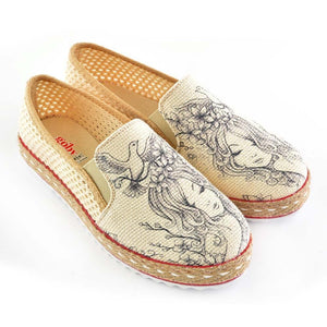 Lady and Birds Slip on Sneakers Shoes DEL120