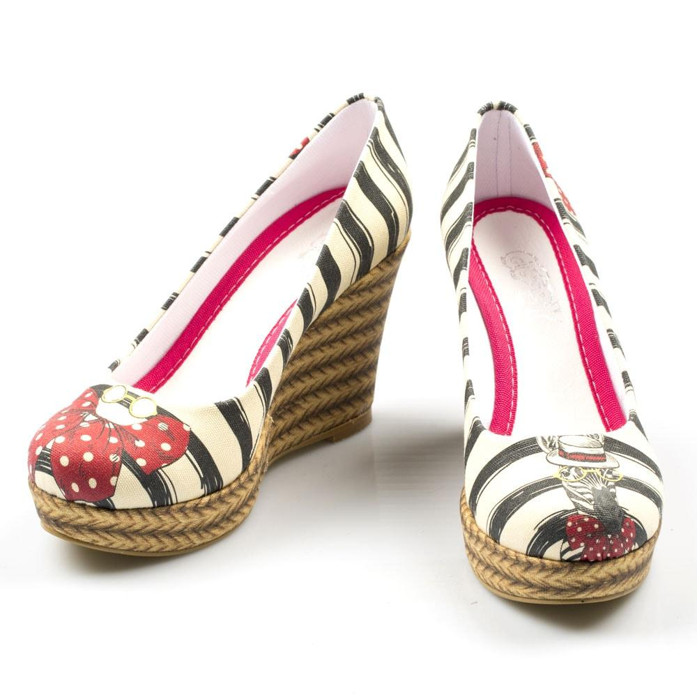 GOBY Zebra Style Heel Shoes DLG4506