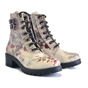 GOBY Autumn and Butterflies Short Boots DRY101