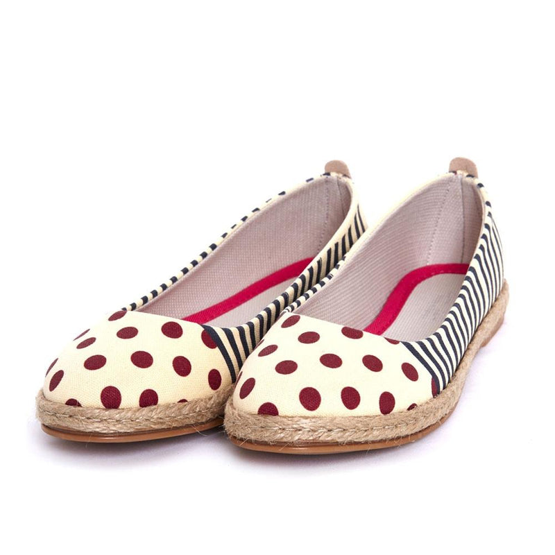 Striped Dotted Ballerinas Shoes FBR1184 (506265567264)