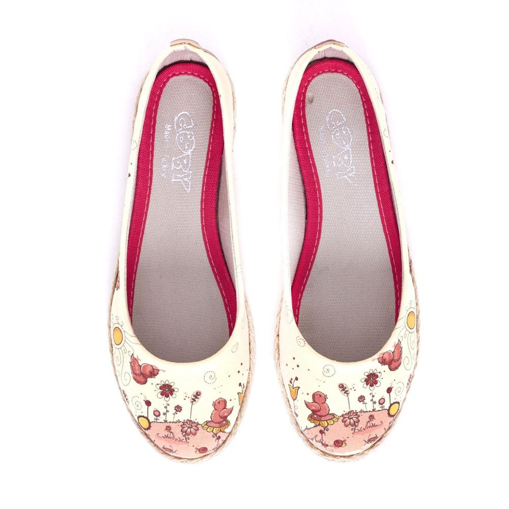 GOBY Cute Birds Ballerinas Shoes FBR1196