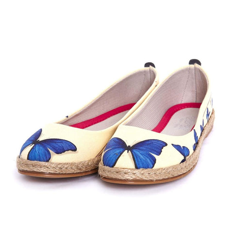 GOBY Blue Butterfly Ballerinas Shoes FBR1198