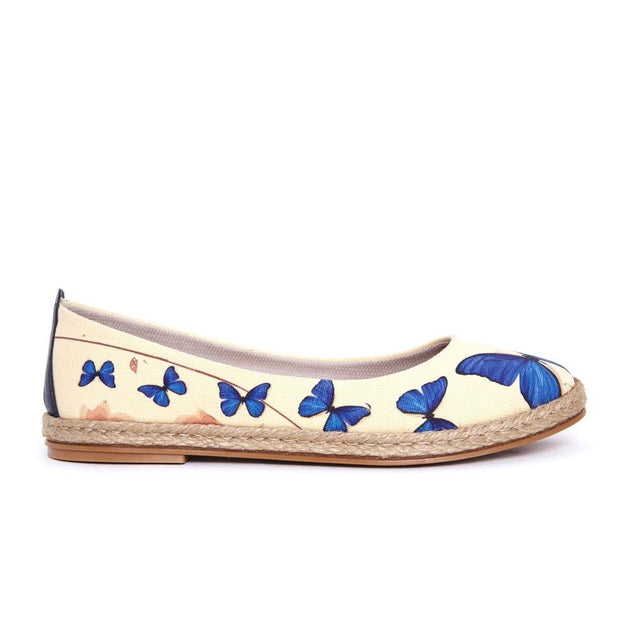 Blue Butterfly Ballerinas Shoes FBR1198, Goby, GOBY Ballerinas Shoes