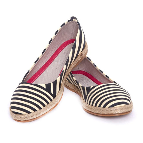 GOBY Striped Ballerinas Shoes FBR1199