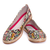 Numbers and Letters Ballerinas Shoes FBR1205 (1405805363296)