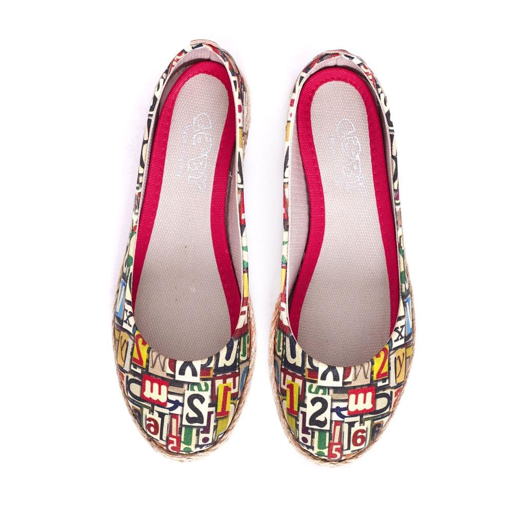 Goby Numbers and Letters Ballerinas Shoes FBR1205