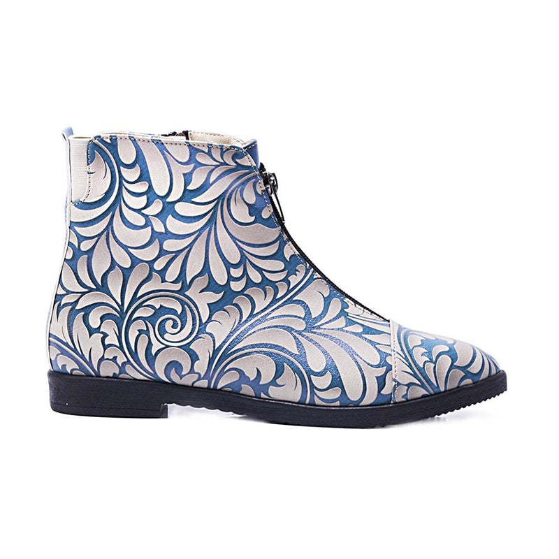 Flower Ankle Boots FER102 (506266026016)
