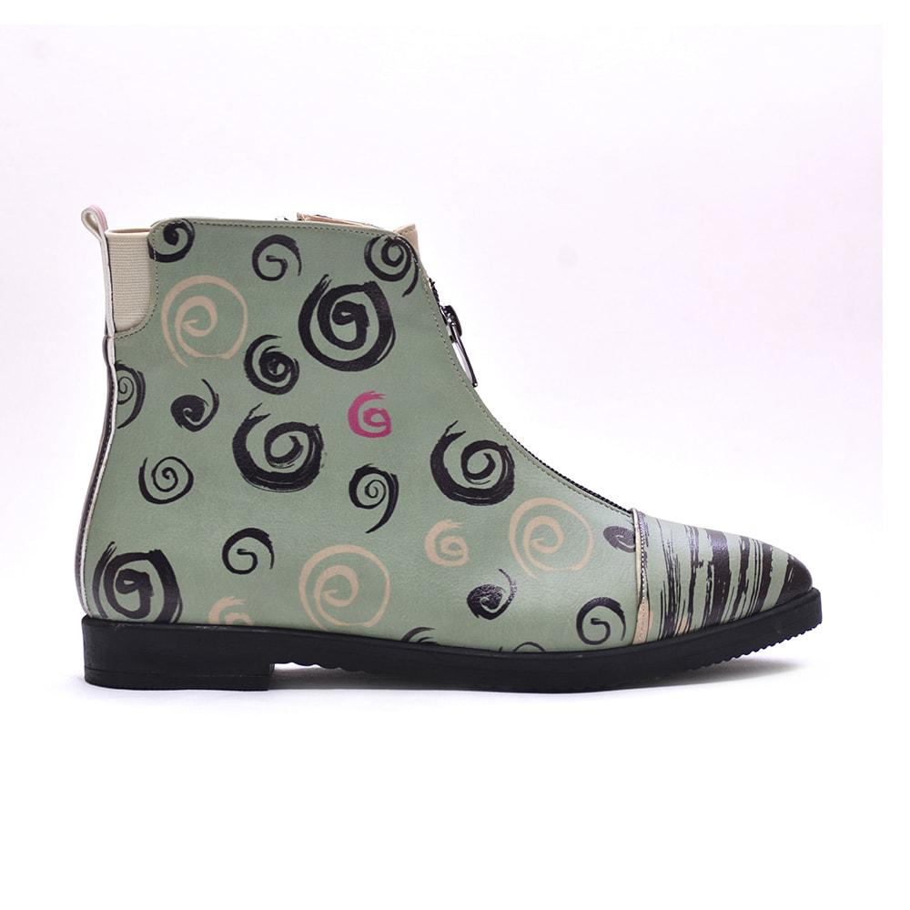 GOBY Striped Ankle Boots FER106