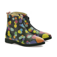 Colored Dots Ankle Boots FER111