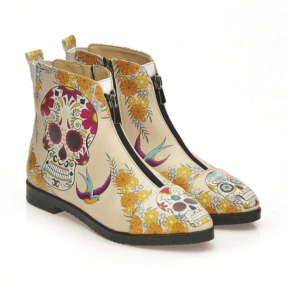 GOBY Skull Ankle Boots FER112