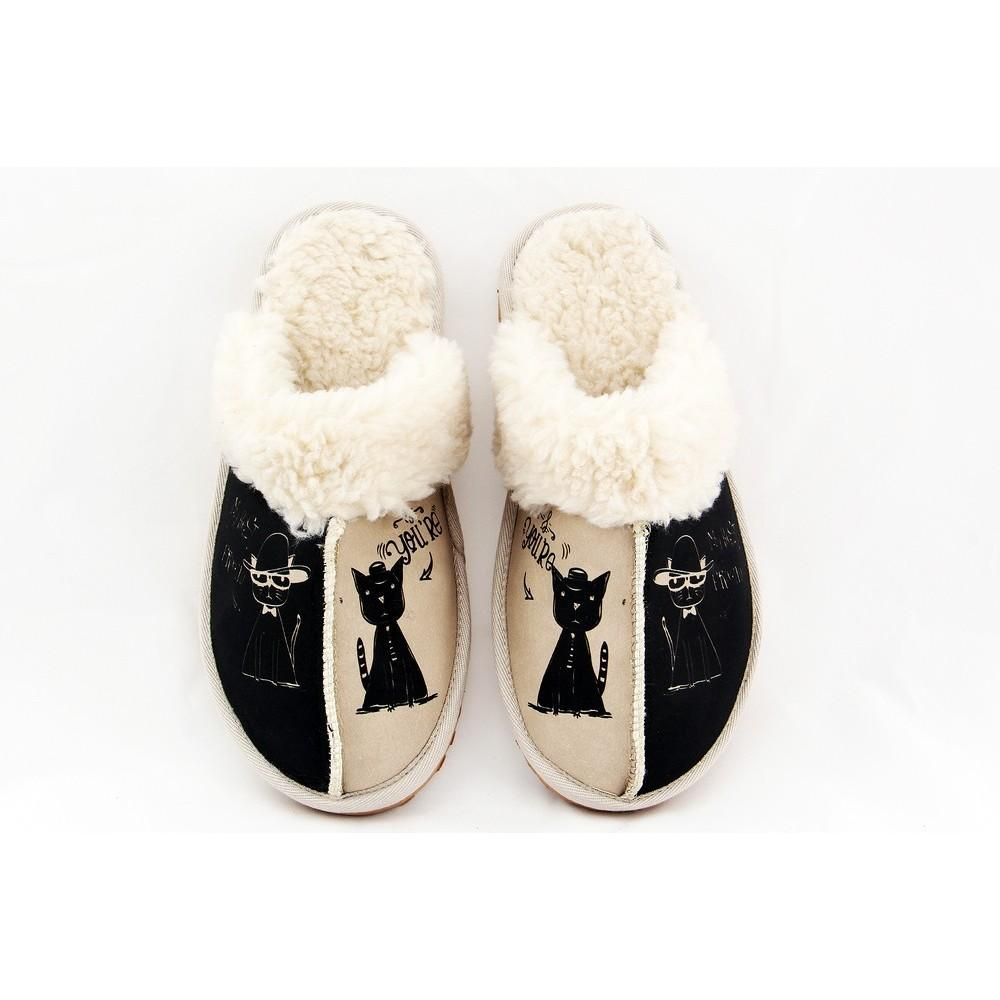 GOBY Cool Cat Shearling Slipper GCT101