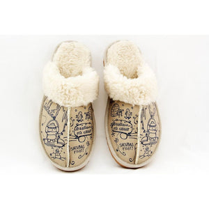 GOBY Snowball Fight Shearling Slipper GCT102