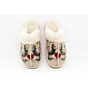 Love Cats Shearling Slipper GCT103