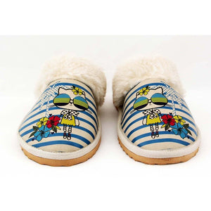 Stylish Cat Shearling Slipper GDT102