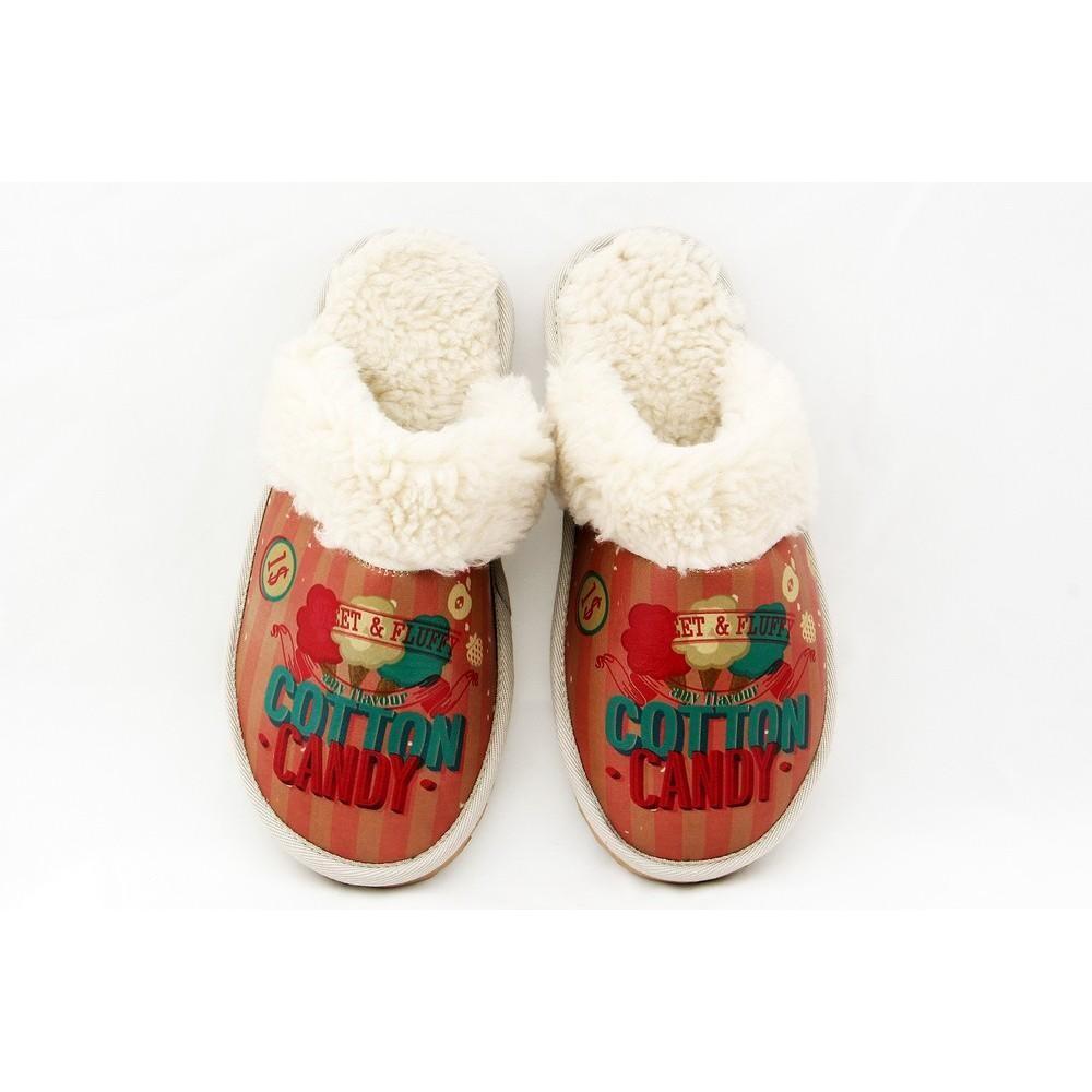 GOBY Cotton Candy Shearling Slipper GDT103