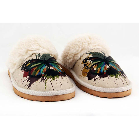 Butterfly Shearling Slipper GDT104, Goby, GOBY Shearling Slipper