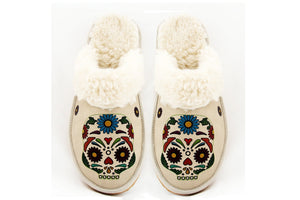 Skull Shearling Slipper GDT105