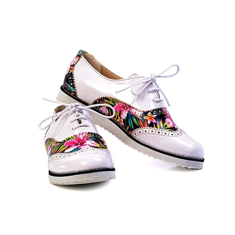 Flowers Oxford Shoes GNG303 (506266320928)
