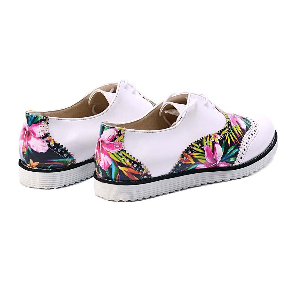 Flowers Oxford Shoes GNG303 - Goby GOBY Oxford Shoes