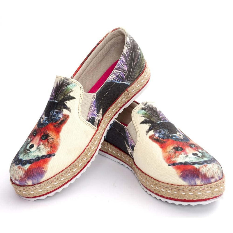Stylish Fox Slip on Sneakers Shoes HV1564 (506267566112)