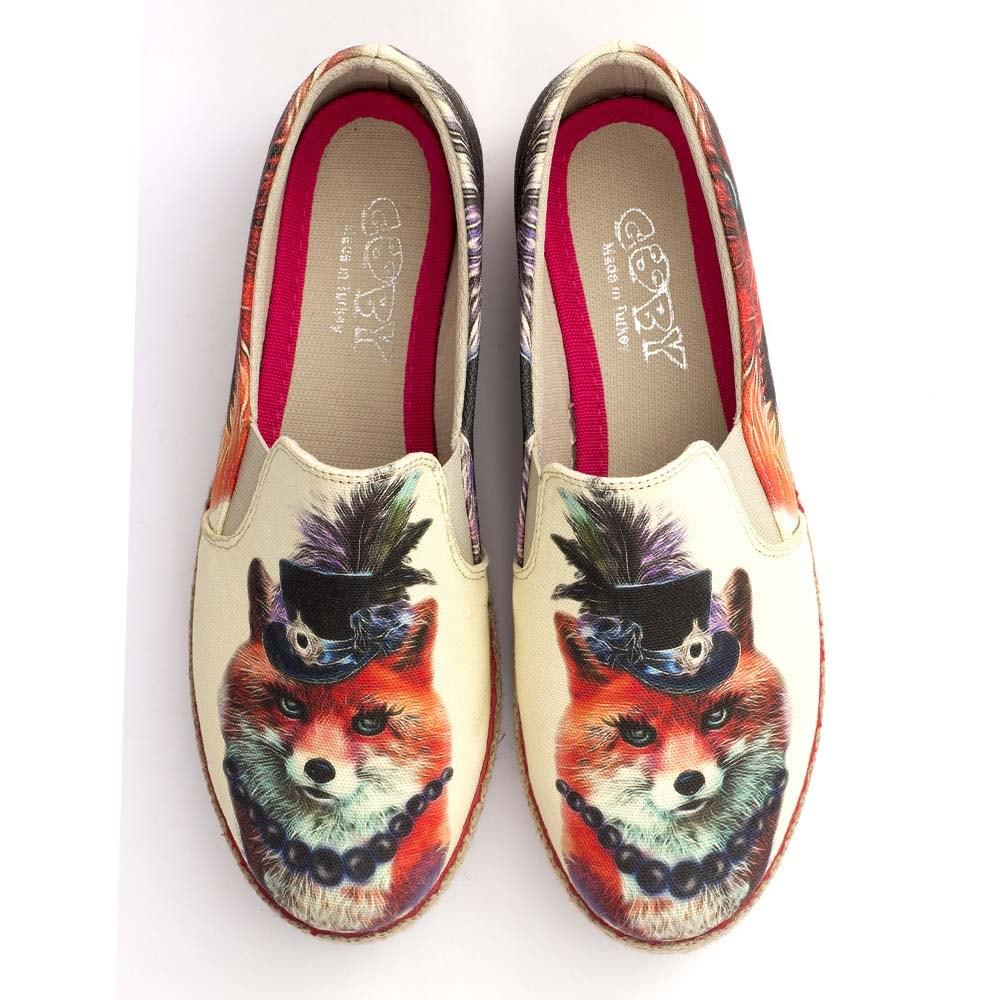 GOBY Stylish Fox Slip on Sneakers Shoes HV1564