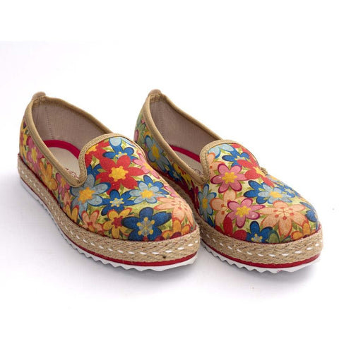 Flowers Slip on Sneakers Shoes HVD1455 - Goby GOBY Slip on Sneakers Shoes