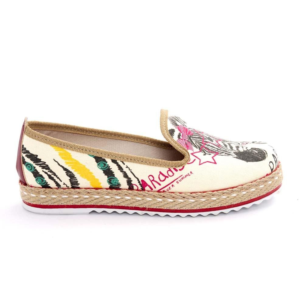 Zebra Style Slip on Sneakers Shoes HVD1460