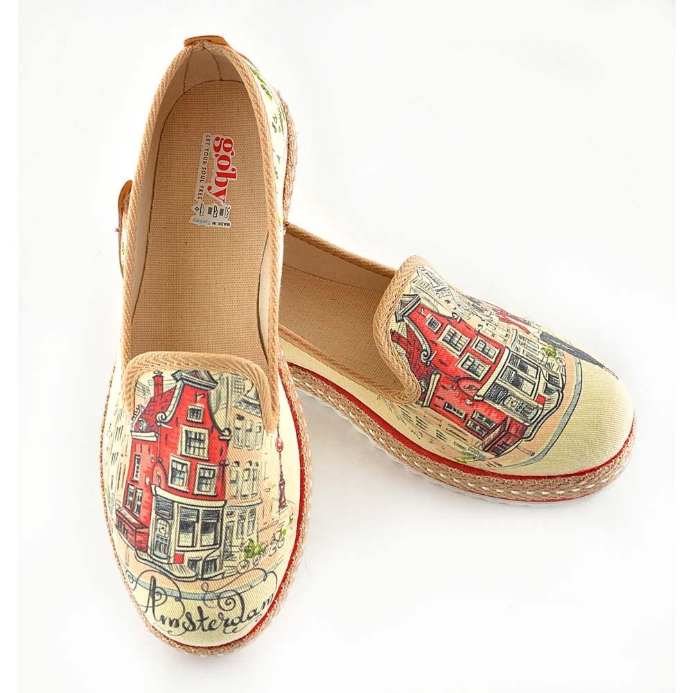 GOBY Amsterdam Slip on Sneakers Shoes HVD1465