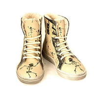 Skeletons Short Boots JAS108