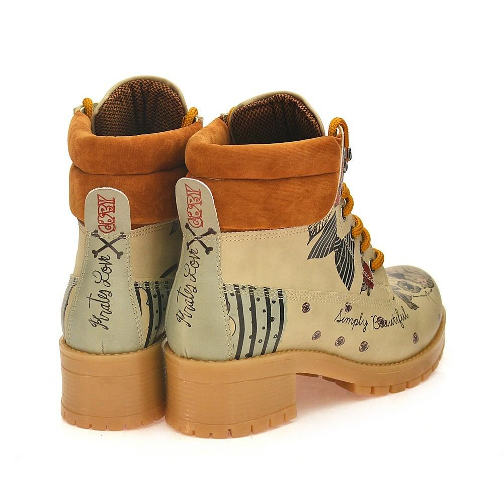 GOBY Pirates Love Short Boots KAT107