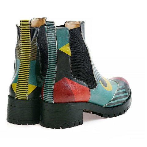 GOBY Pattern Short Boots LAS101