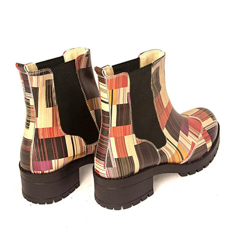 GOBY Pattern Short Boots LAS102
