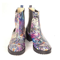 Paint Pattern Short Boots LAS105 (1421187547232)
