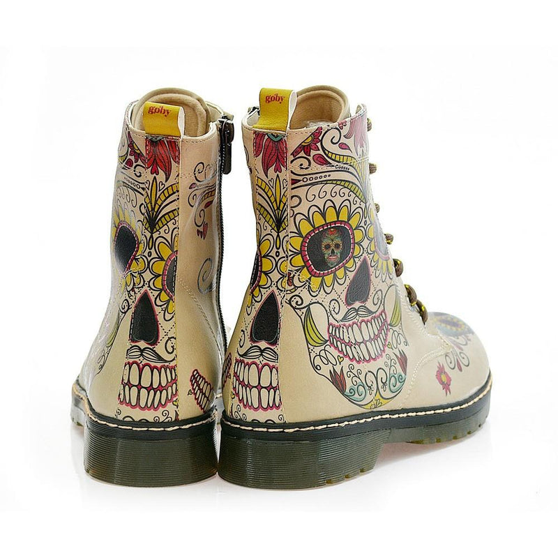 Crazy Skull Long Boots MRT111 (1421391265888)