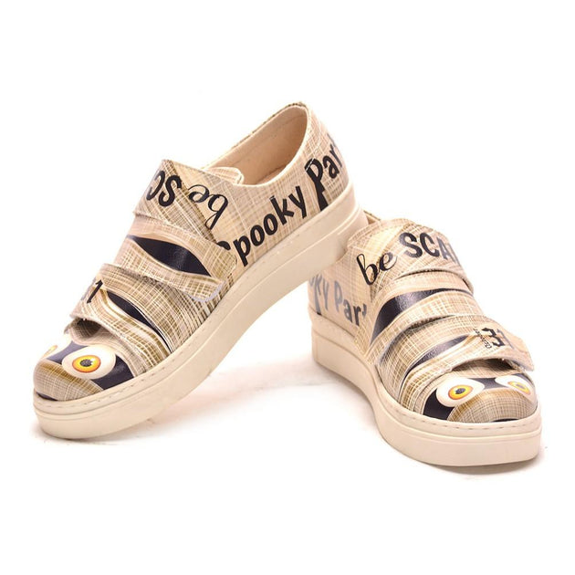 Halloween Mummy Slip on Sneakers Shoes NAC104