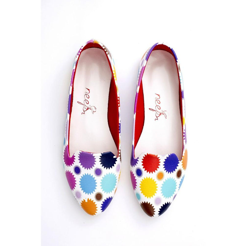 Colored Dots Ballerinas Shoes NBL219 (770203025504)