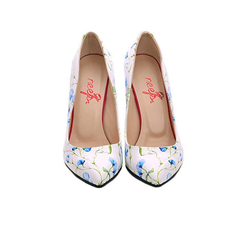 Flowers Heel Shoes NBS108 (770204074080)