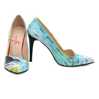 Flowers Heel Shoes NBS202