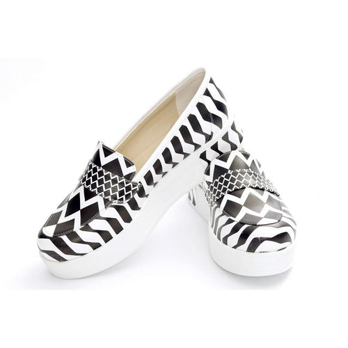 Pattern Slip on Sneakers Shoes NFS503