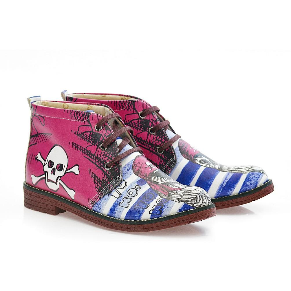 NFS Pirate Owl Ankle Boots NHP103