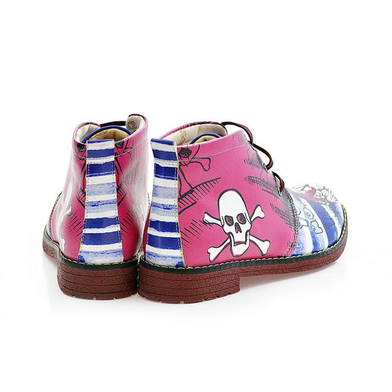 Pirate Owl Ankle Boots NHP103 (770209579104)