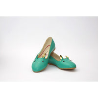 Green Cat Ballerinas Shoes NKB16 (770210562144)