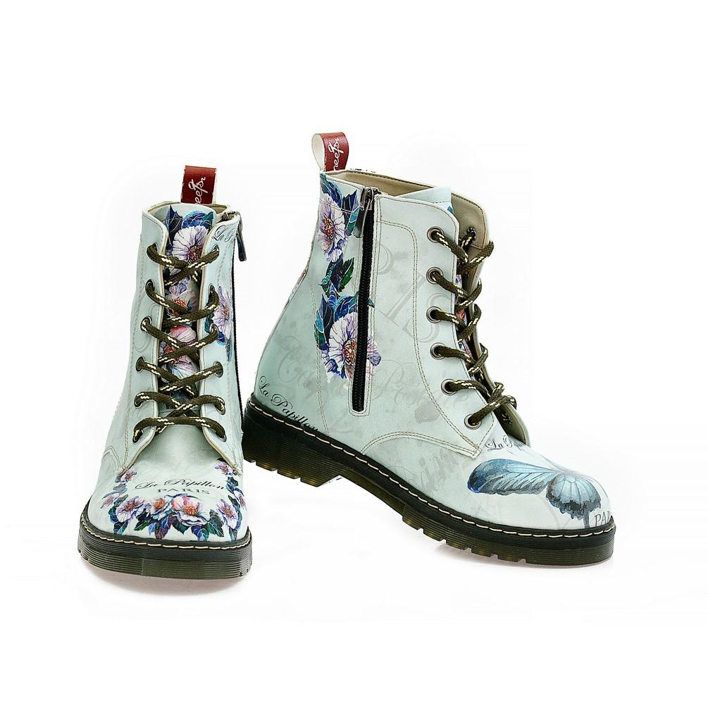Butterfly and Flower Long Boots NMAR107, Goby, NFS Long Boots