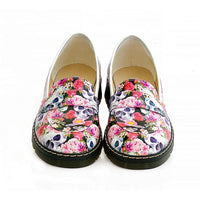 Skull and Flowers Oxford Shoes NMOX101 (770212757600)