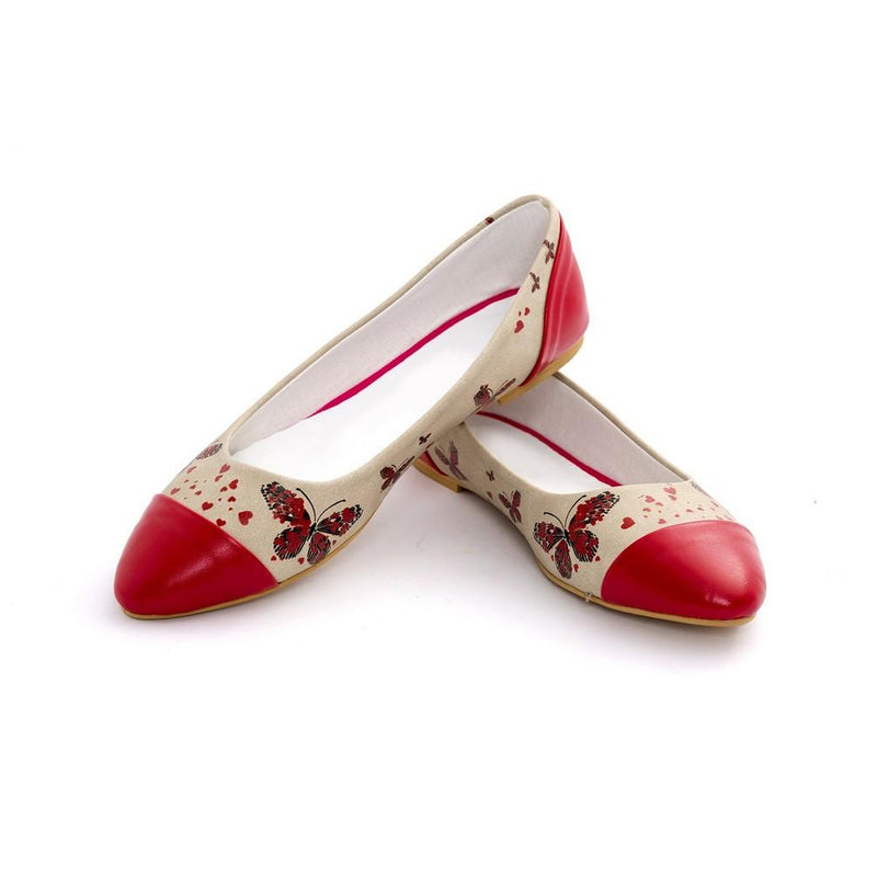 Butterfly Ballerinas Shoes NMS105 (770213118048)