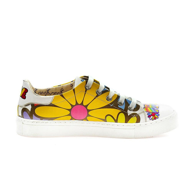 Love Peace Slip on Sneakers Shoes NSP101