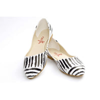 Black and White Ballerinas Shoes NSS351