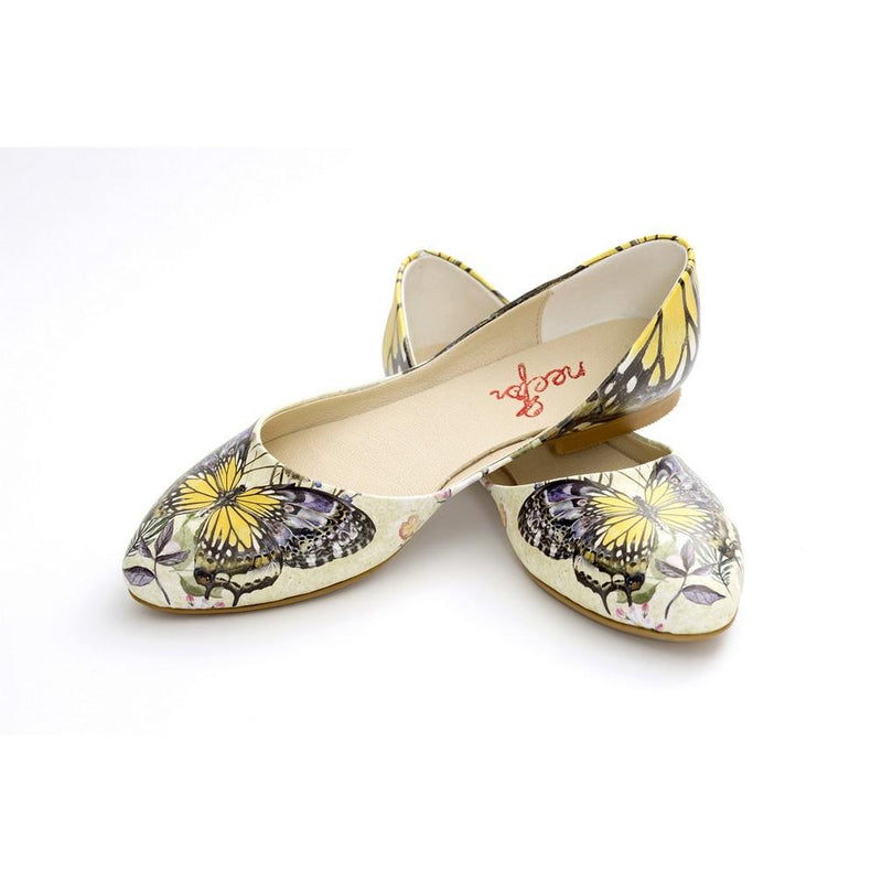 Butterfly Ballerinas Shoes NSS359 (770221834336)