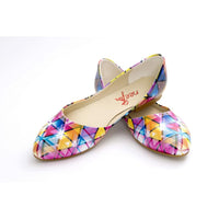 Colored Triangles Ballerinas Shoes NSS360 (770221899872)